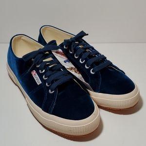 SUPERGA Blue Velvet Sneakers NWOB Fantasia 8